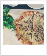Vegan pizza.