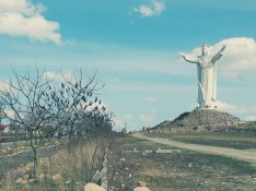 Remind yourselves I've been talking about Poland, not Brazil. So you know where you can find this statue.