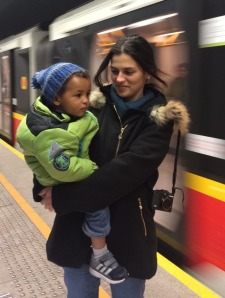 Taking the metro in Warsaw!