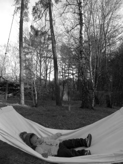 ''Let's sleep outdoors mum''