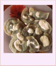 Berry dumplings with coconut yoghurt!!!!