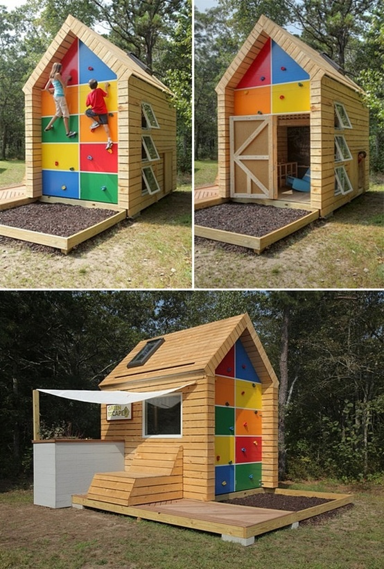 outdoor living decor and ideas tiny cabin playhouse fort shack clubhouse.jpg